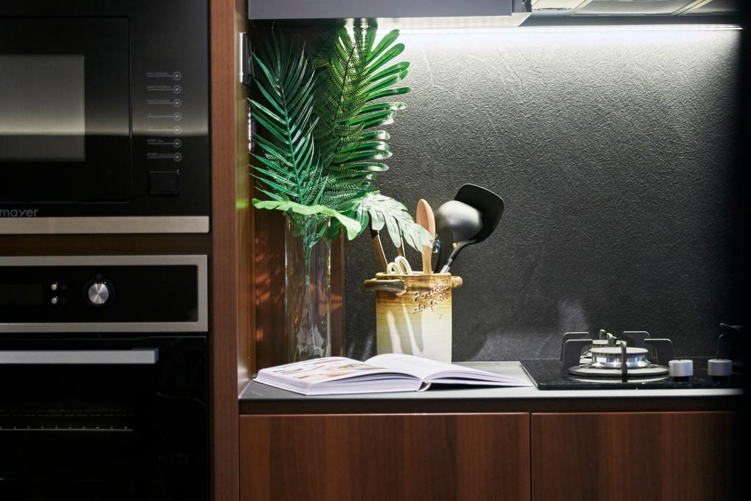 Kallang Bahru (Block 65), i-Chapter, Industrial, Kitchen, HDB, Kitchen Backsplash, Backsplash, Dark Colours