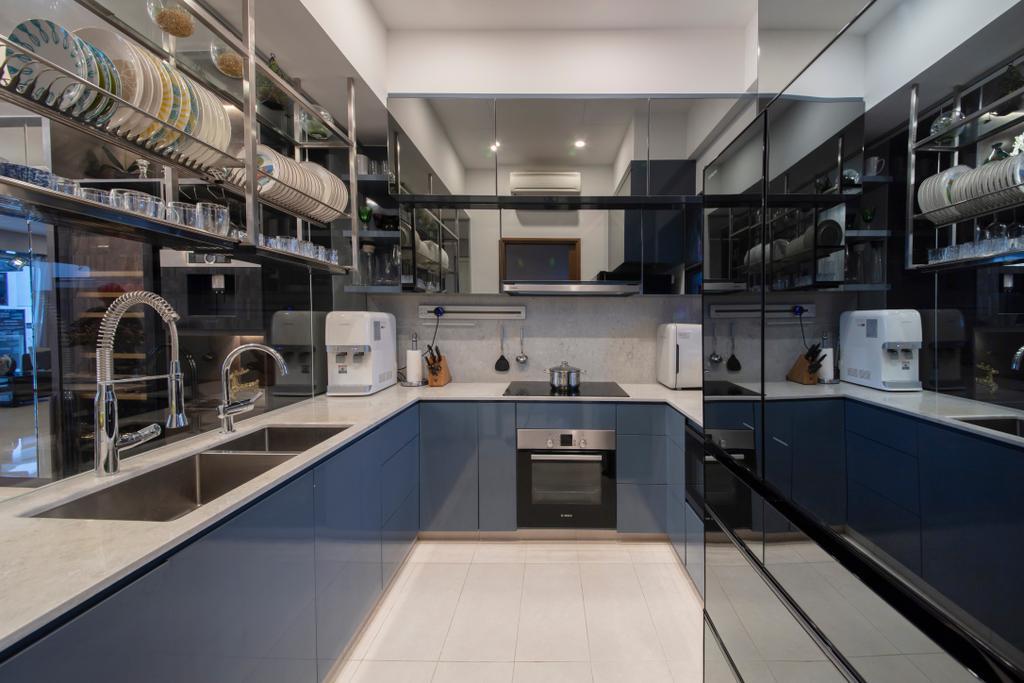 Modern, Landed, Kitchen, Eng Kong Road, Interior Designer, ECasa Studio