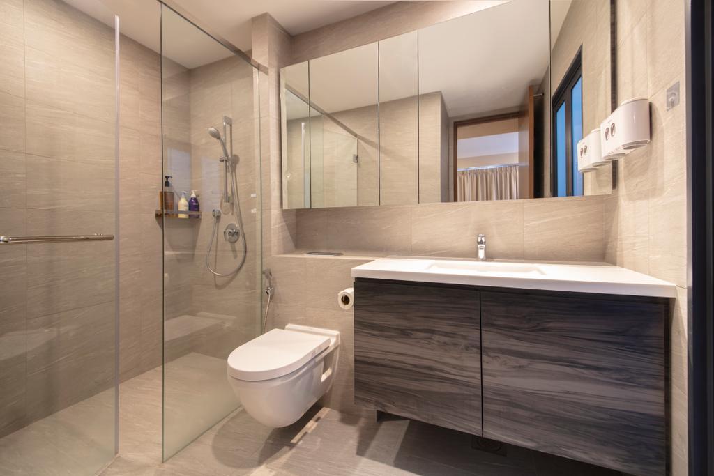 Modern, Landed, Bathroom, Eng Kong Road, Interior Designer, ECasa Studio