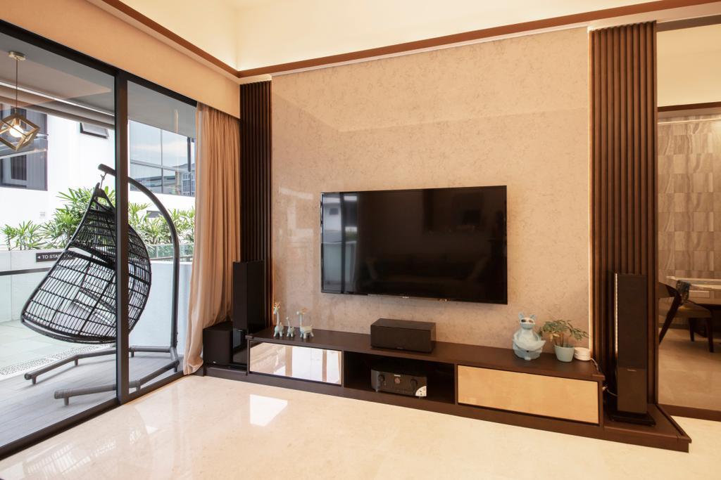 Modern, Landed, Living Room, Eng Kong Road, Interior Designer, ECasa Studio