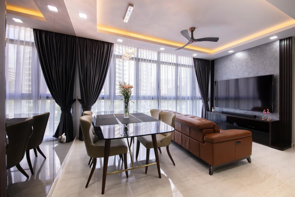 Modern, Condo, Living Room, Symphony Suites, Interior Designer, ECasa Studio