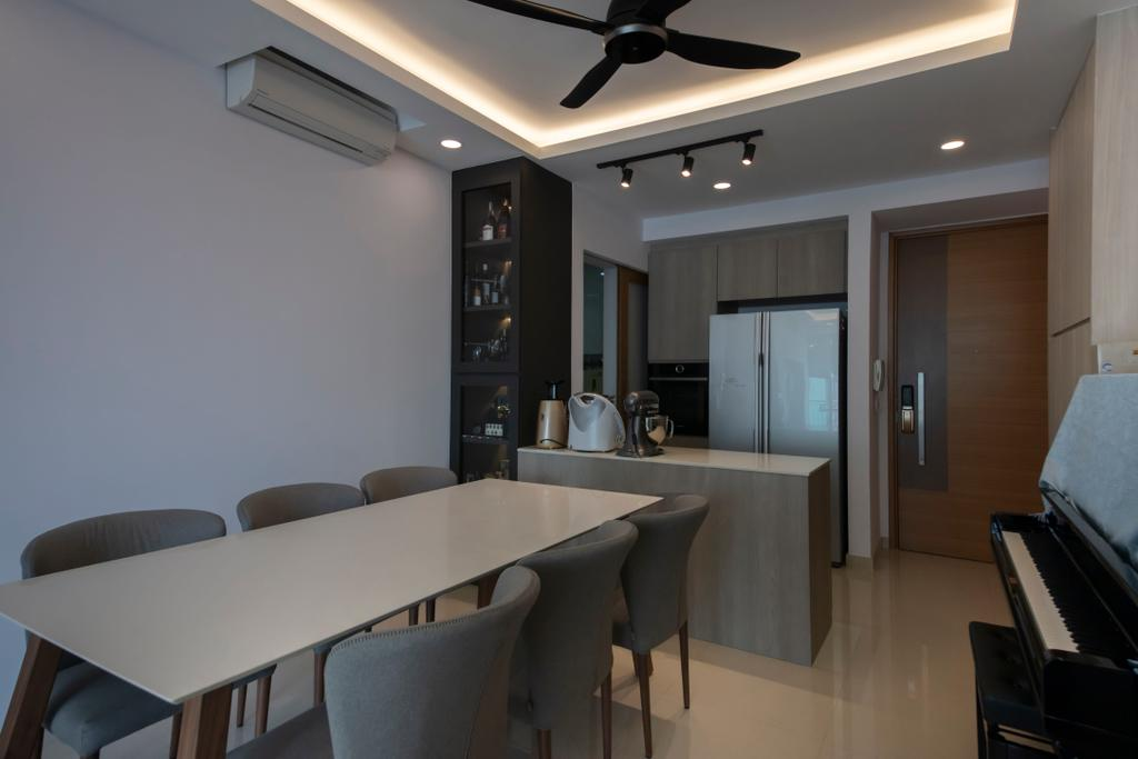 Modern, Condo, Dining Room, Kovan Melody, Interior Designer, ECasa Studio