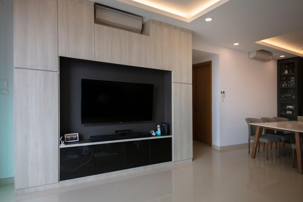 Modern, Condo, Living Room, Kovan Melody, Interior Designer, ECasa Studio