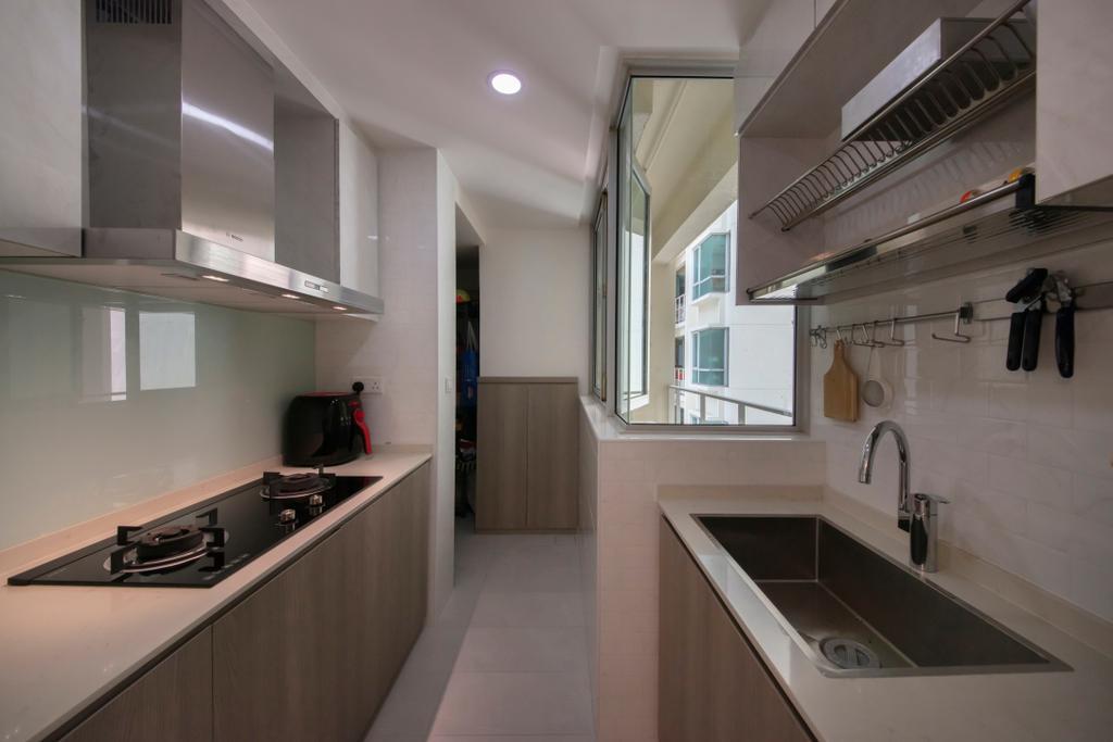 Modern, Condo, Kitchen, Kovan Melody, Interior Designer, ECasa Studio