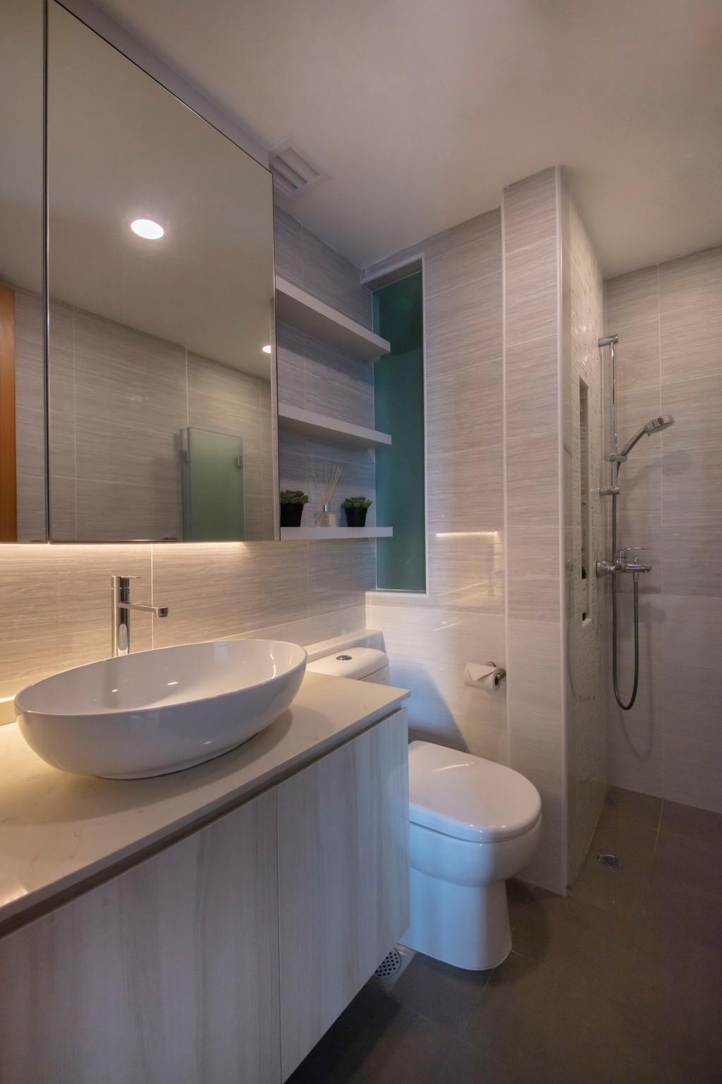 Modern, Condo, Bathroom, Kovan Melody, Interior Designer, ECasa Studio