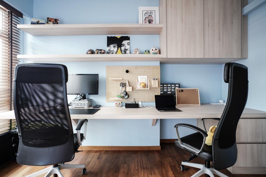 Modern, HDB, Study, Sumang Walk, Interior Designer, Couple Abode