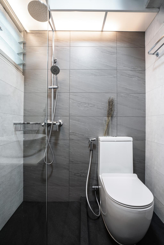 Modern, HDB, Bathroom, Sumang Walk, Interior Designer, Couple Abode