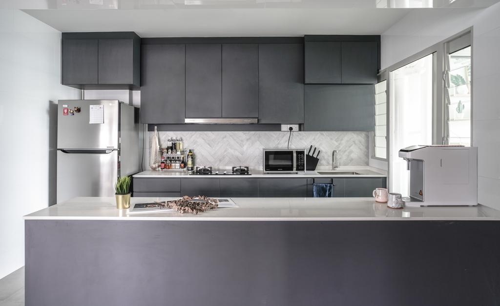 Modern, HDB, Kitchen, Sumang Walk, Interior Designer, Couple Abode