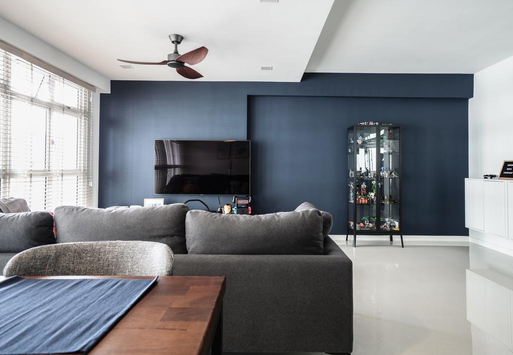 Modern, HDB, Living Room, Sumang Walk, Interior Designer, Couple Abode