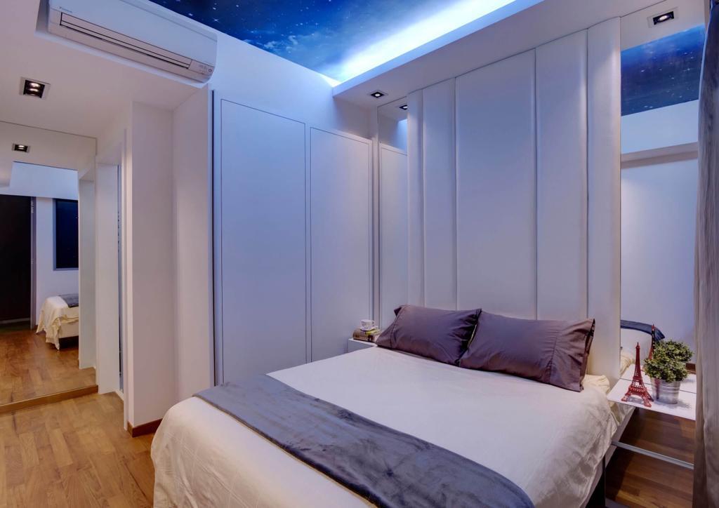 Vintage, Condo, Bedroom, Hillview, Interior Designer, Space Factor