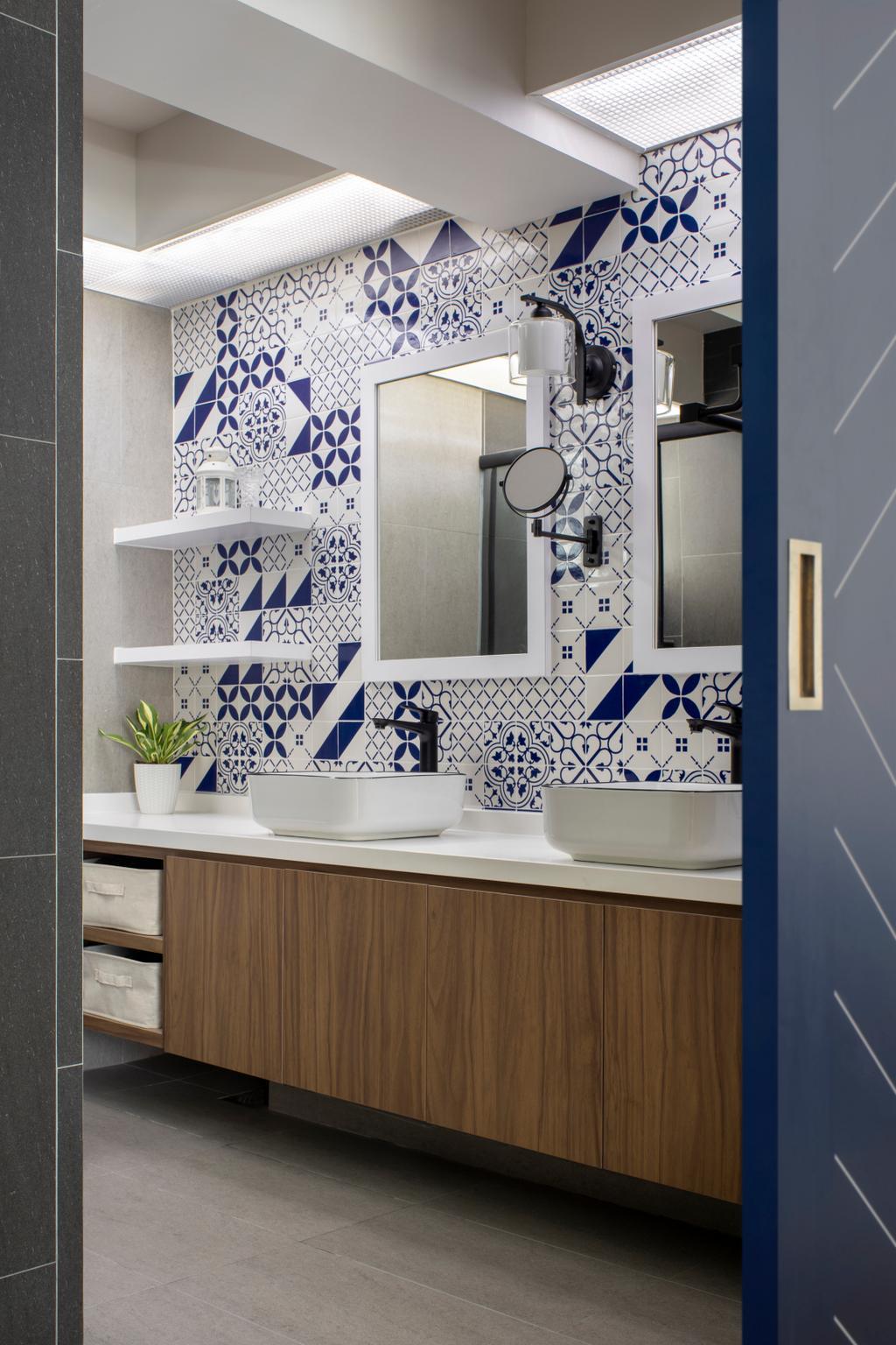 Eclectic, HDB, Bathroom, Compassvale Lane, Interior Designer, Adroit ID