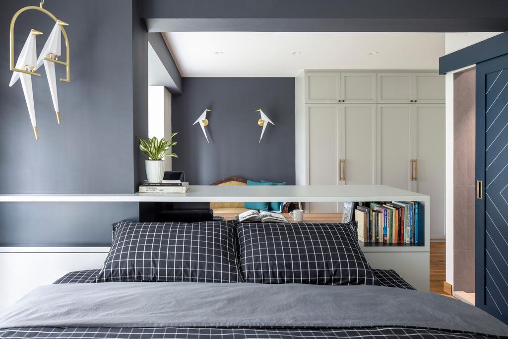 Eclectic, HDB, Bedroom, Compassvale Lane, Interior Designer, Adroit ID