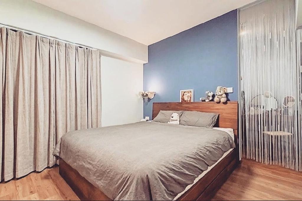 Minimalistic, HDB, Bedroom, Kim Tian Road, Interior Designer, Le Bleu Art
