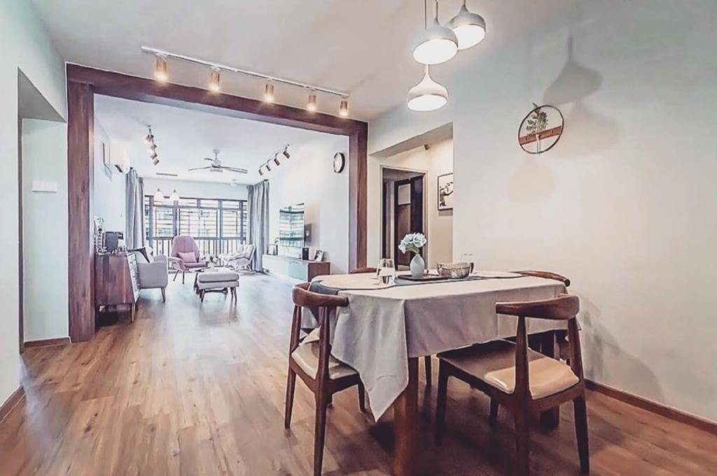 Minimalistic, HDB, Dining Room, Kim Tian Road, Interior Designer, Le Bleu Art