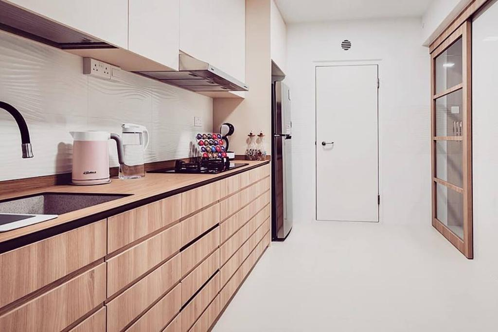 Minimalistic, HDB, Kitchen, Bukit Batok West Avenue 6, Interior Designer, Le Bleu Art