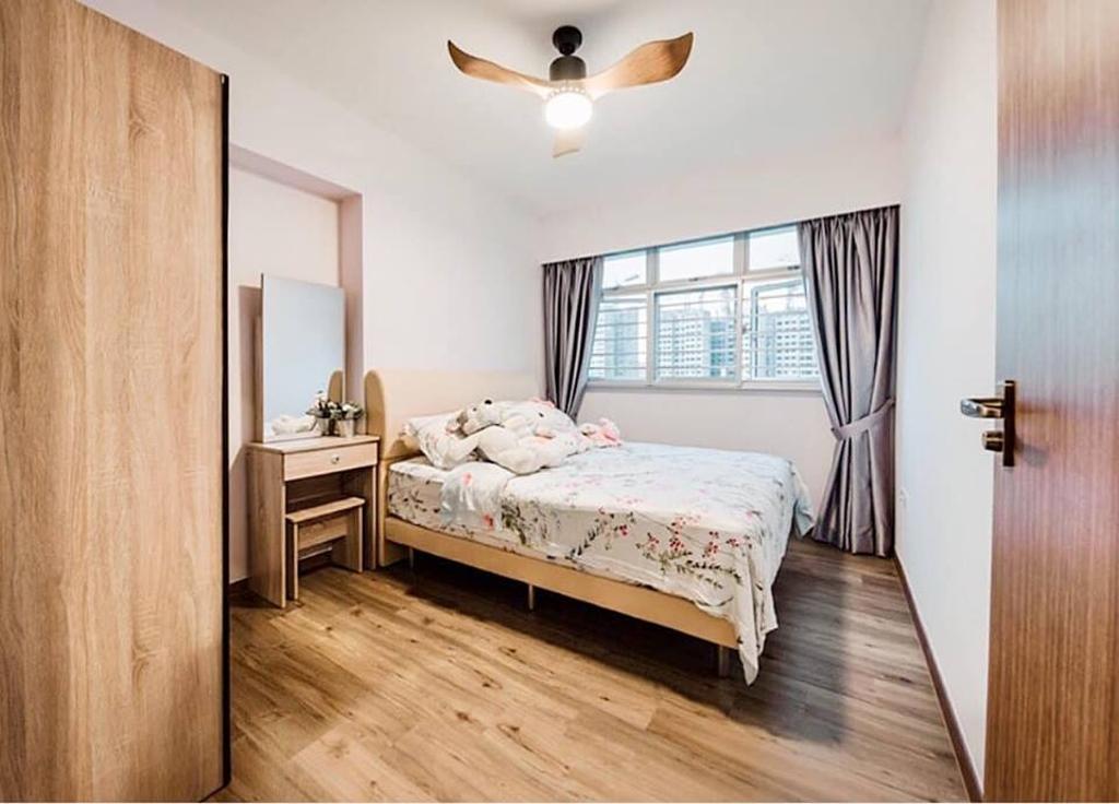 Minimalistic, HDB, Bedroom, Bukit Batok West Avenue 6, Interior Designer, Le Bleu Art