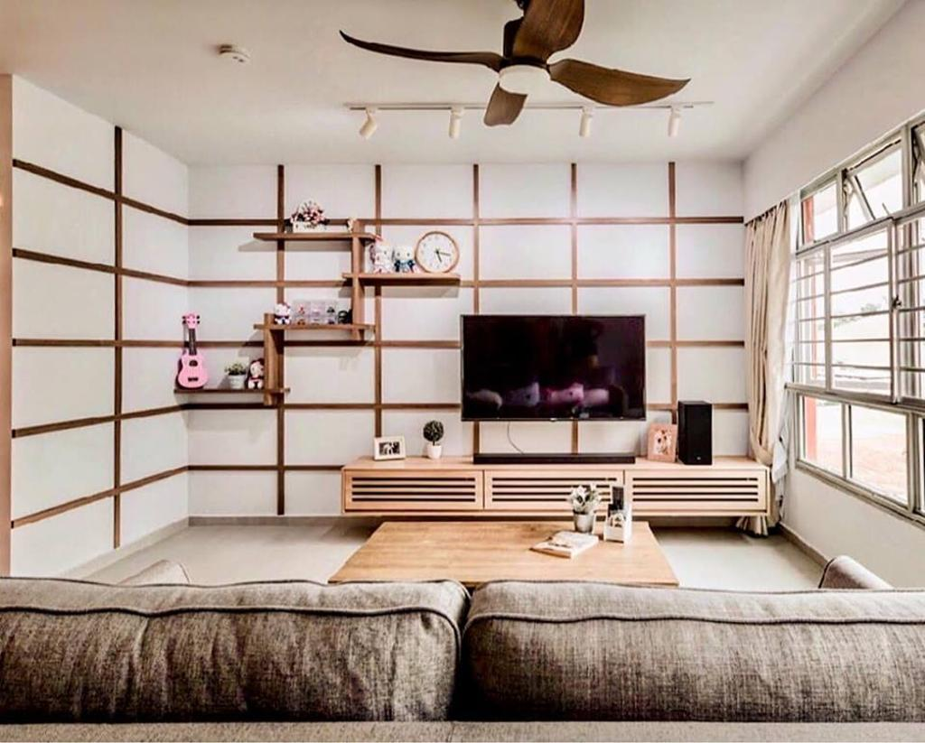 Minimalistic, HDB, Living Room, Bukit Batok West Avenue 6, Interior Designer, Le Bleu Art