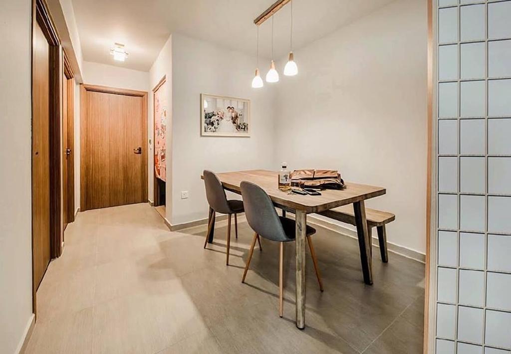 Minimalistic, HDB, Dining Room, Bukit Batok West Avenue 6, Interior Designer, Le Bleu Art