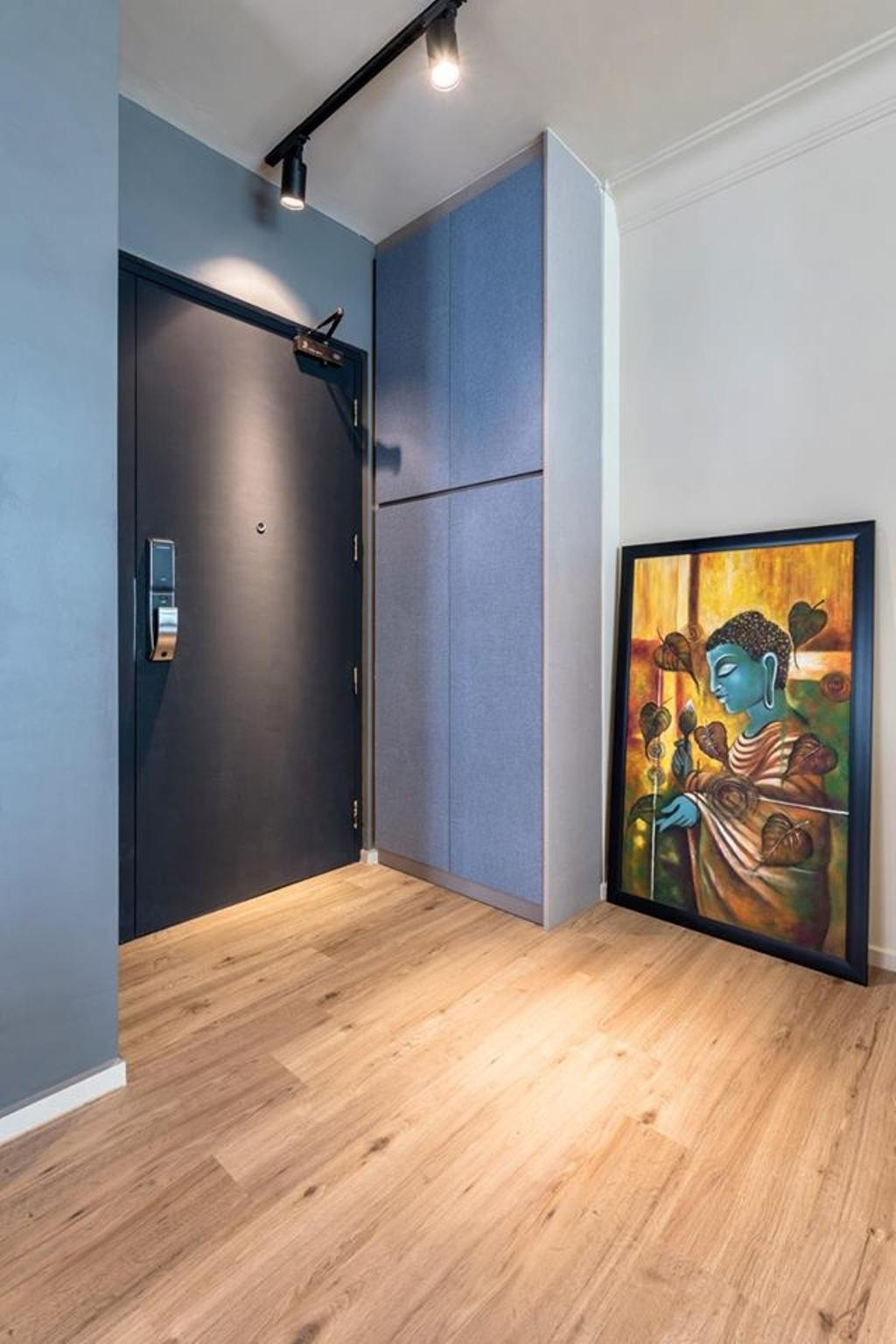 Contemporary, HDB, Living Room, Fernvale Vista, Interior Designer, Le Bleu Art