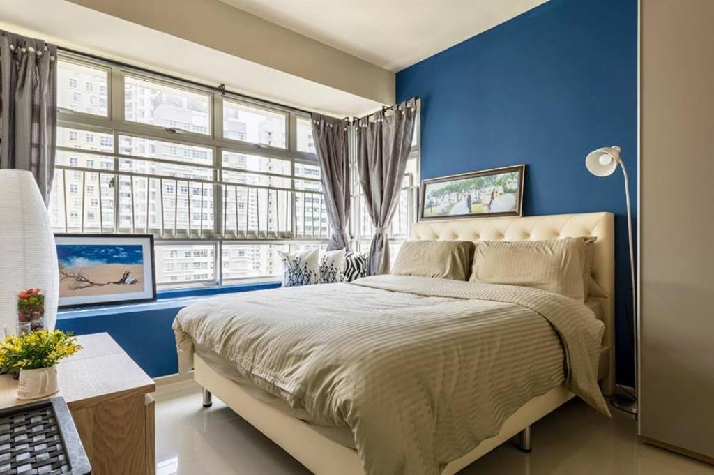 Contemporary, HDB, Bedroom, Fernvale Vista, Interior Designer, Le Bleu Art