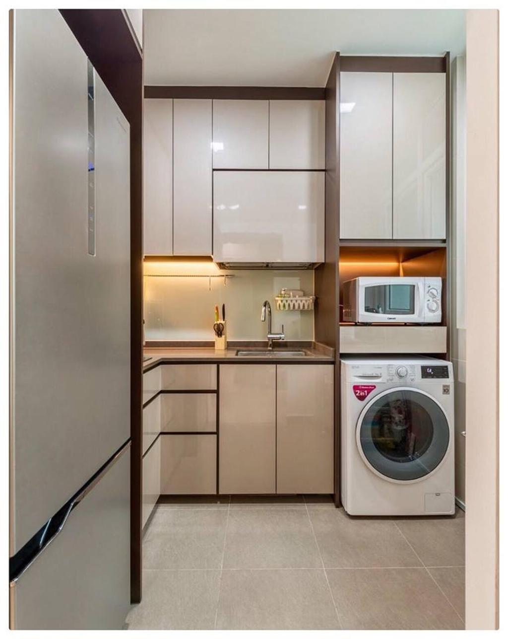Modern, Condo, Kitchen, Horizon Residences, Interior Designer, Le Bleu Art