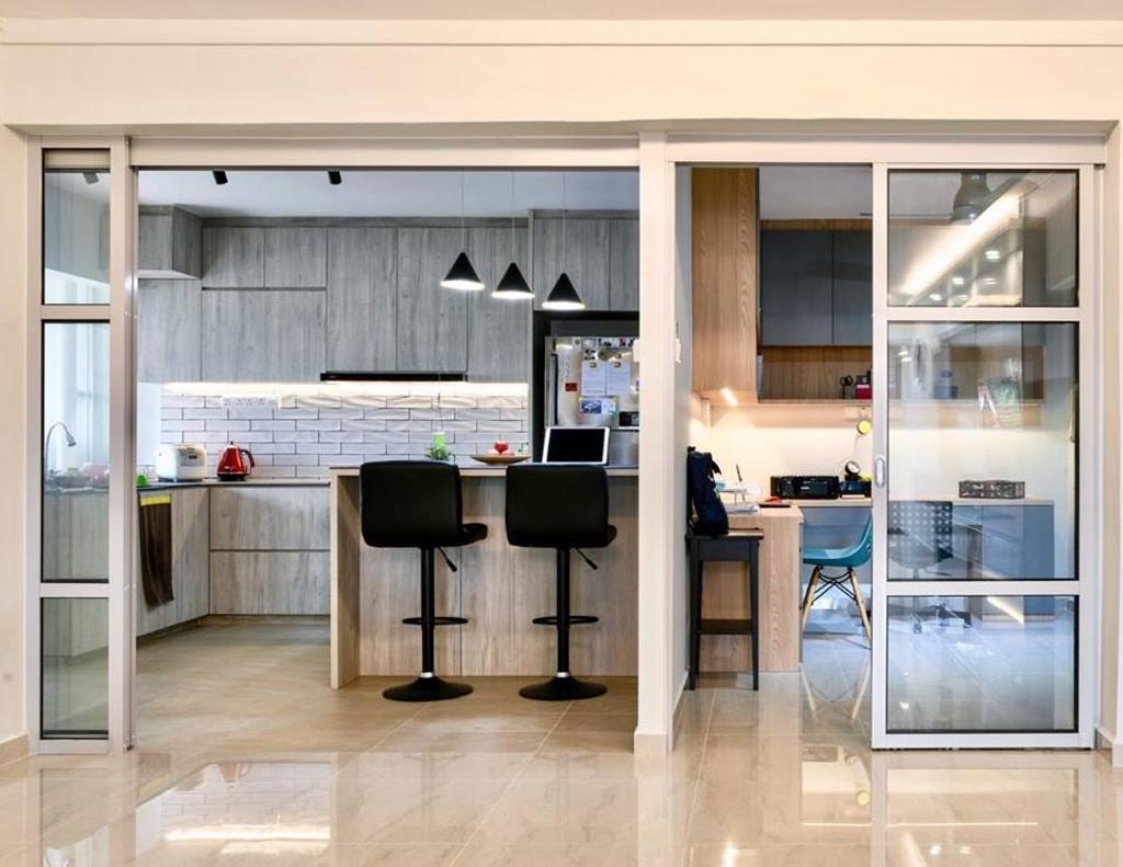 Modern, HDB, Kitchen, Choa Chu Kang Avenue 6, Interior Designer, Le Bleu Art
