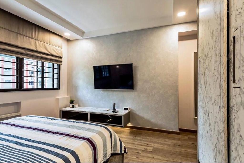 Modern, HDB, Bedroom, Choa Chu Kang Avenue 6, Interior Designer, Le Bleu Art