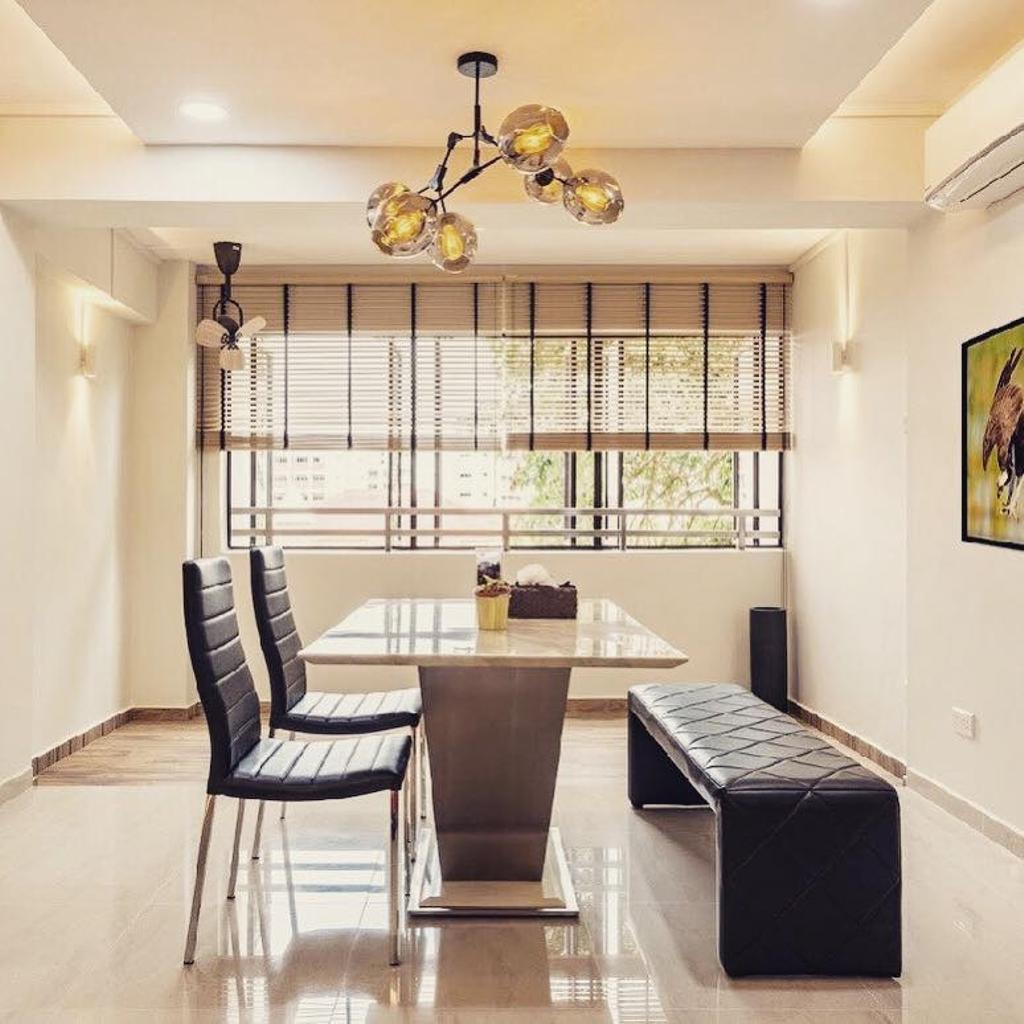 Modern, HDB, Dining Room, Choa Chu Kang Avenue 6, Interior Designer, Le Bleu Art