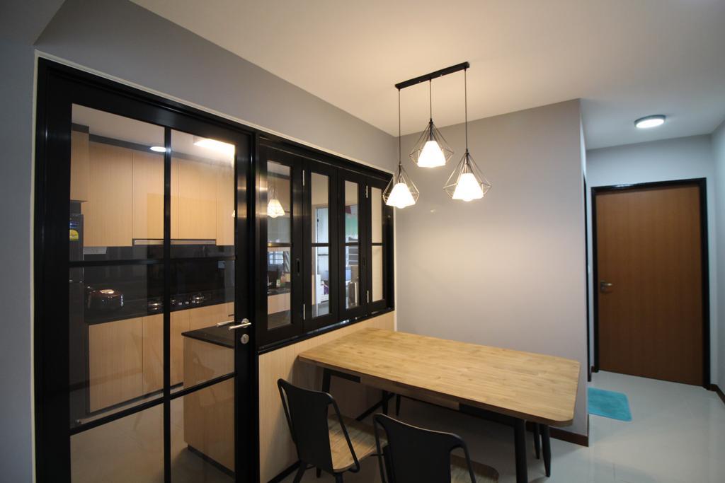Scandinavian, HDB, Dining Room, Anchorvale Road, Interior Designer, Renologist