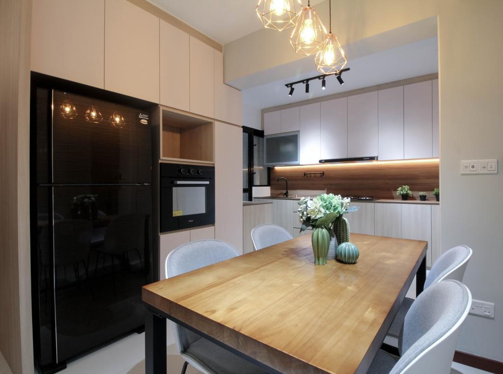 Contemporary, HDB, Dining Room, Tampines Street 61, Interior Designer, Sense & Semblance, Scandinavian