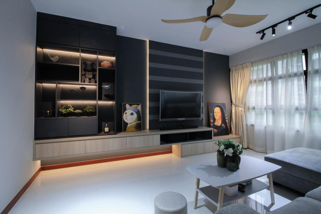 Tampines Street 61 Living Room Interior Design 2