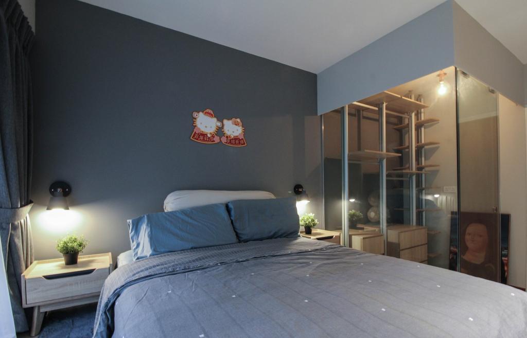Contemporary, HDB, Bedroom, Tampines Street 61, Interior Designer, Sense & Semblance, Scandinavian