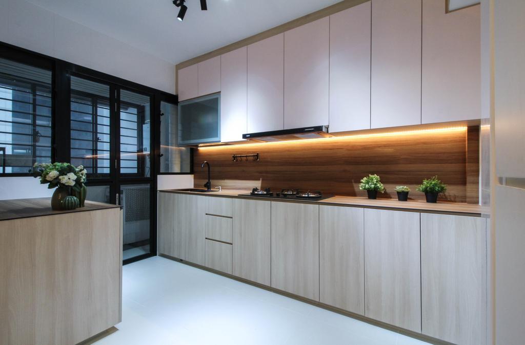 Contemporary, HDB, Kitchen, Tampines Street 61, Interior Designer, Sense & Semblance, Scandinavian