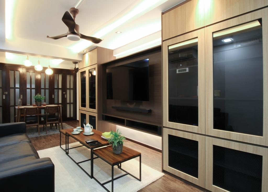 Contemporary, HDB, Living Room, Telok Blangah Crescent, Interior Designer, Sense & Semblance