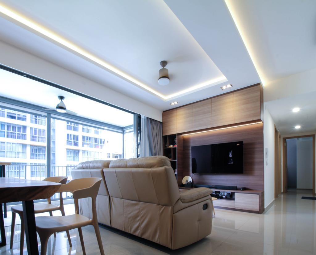 Contemporary, Condo, Living Room, Parc Life, Interior Designer, Sense & Semblance