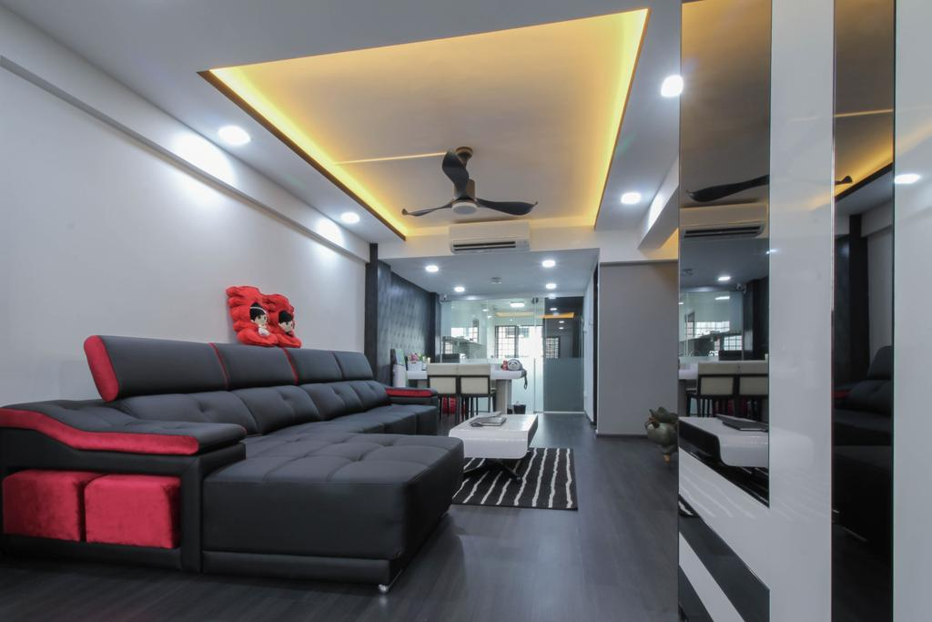 Contemporary, HDB, Living Room, Ang Mo Kio Avenue 10, Interior Designer, Sense & Semblance