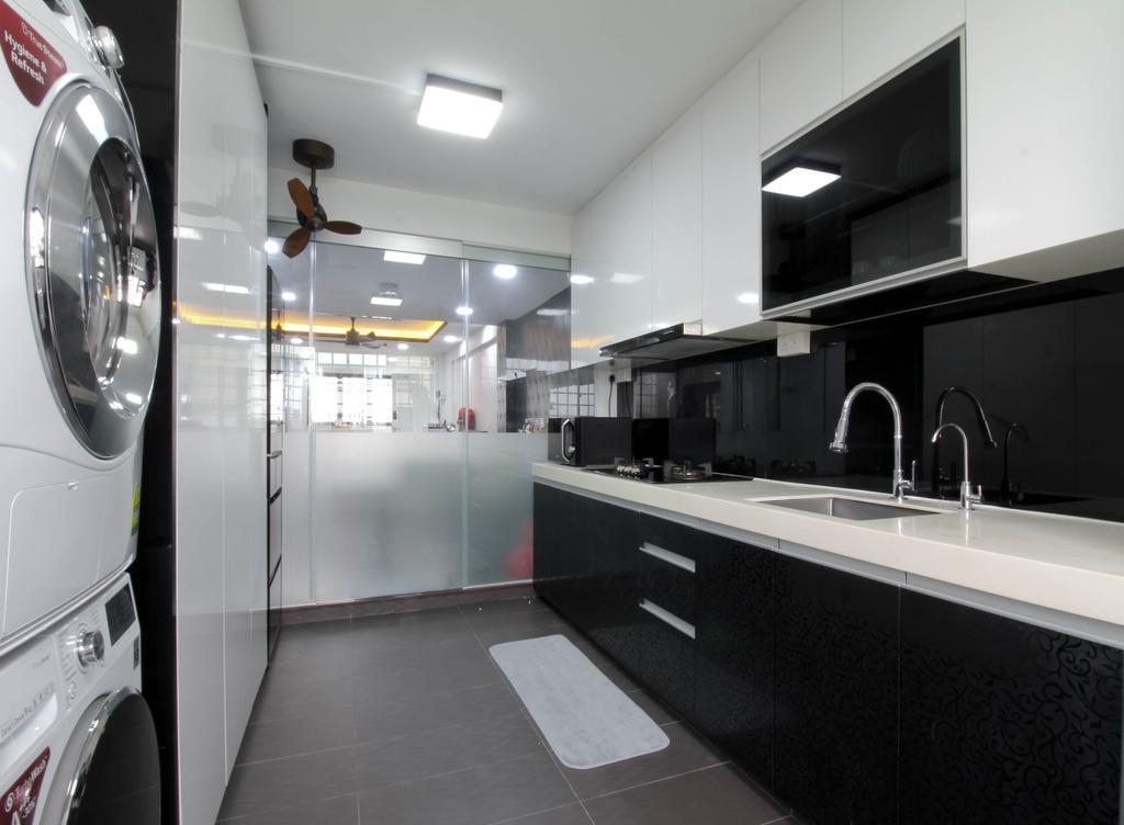 Contemporary, HDB, Kitchen, Ang Mo Kio Avenue 10, Interior Designer, Sense & Semblance