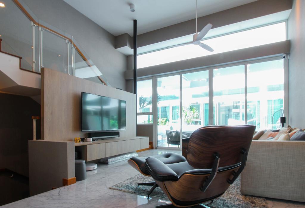 Contemporary, Condo, Living Room, Caban At Sunrise Terrace, Interior Designer, Sense & Semblance