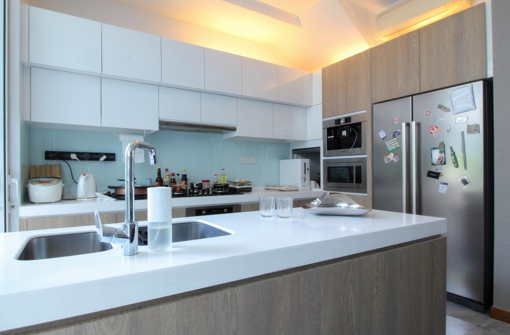 Contemporary, Condo, Kitchen, Caban At Sunrise Terrace, Interior Designer, Sense & Semblance