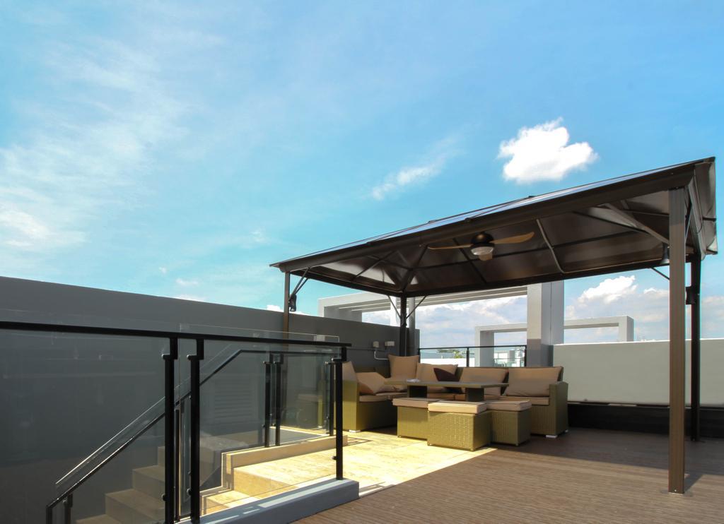 Contemporary, Condo, Balcony, Caban At Sunrise Terrace, Interior Designer, Sense & Semblance