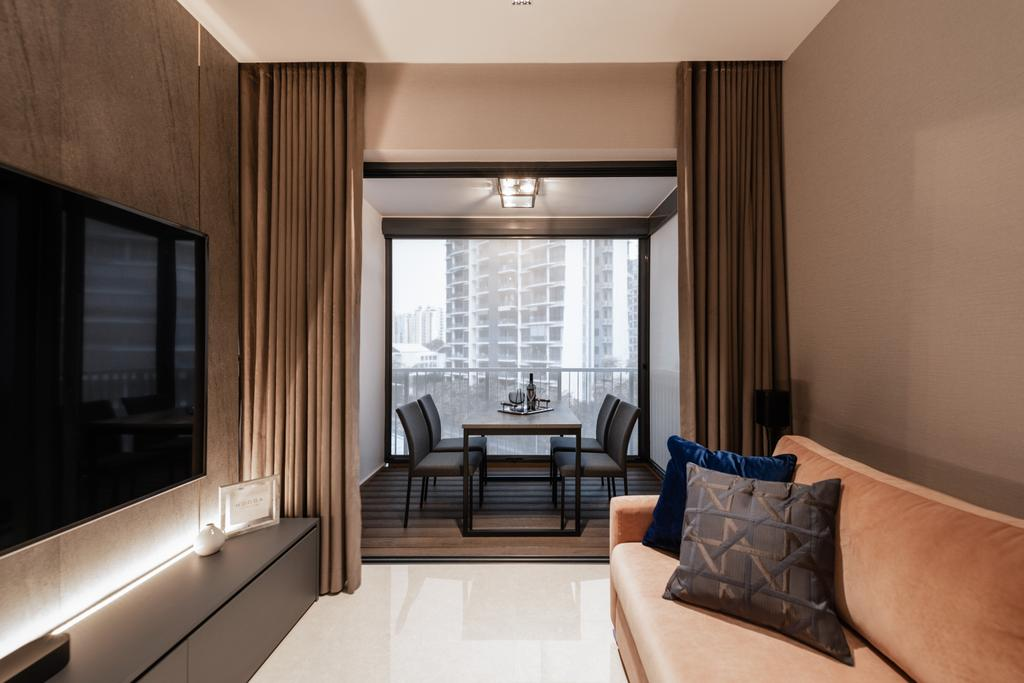 Modern, Condo, Living Room, Kingsford Waterbay, Interior Designer, Mr Shopper Studio, Contemporary