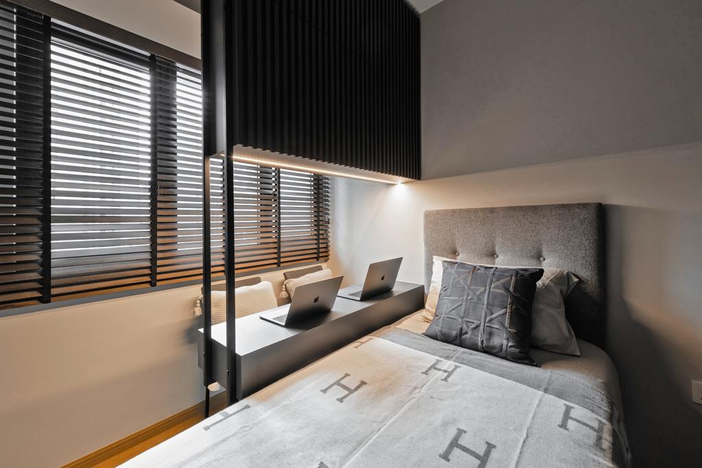 Modern, Condo, Bedroom, Kingsford Waterbay, Interior Designer, Mr Shopper Studio, Contemporary