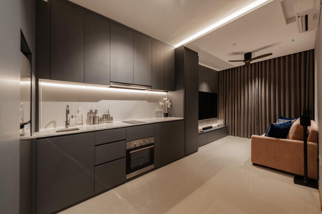 Modern, Condo, Kitchen, Kingsford Waterbay, Interior Designer, Mr Shopper Studio, Contemporary, Open Kitchen