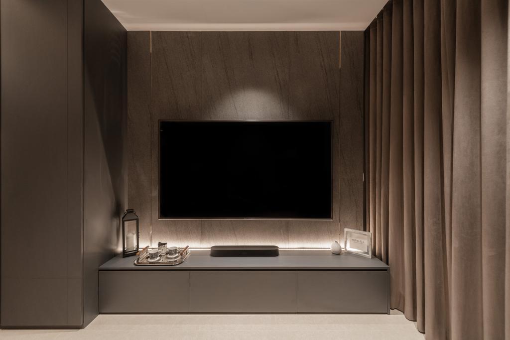 Modern, Condo, Living Room, Kingsford Waterbay, Interior Designer, Mr Shopper Studio, Contemporary