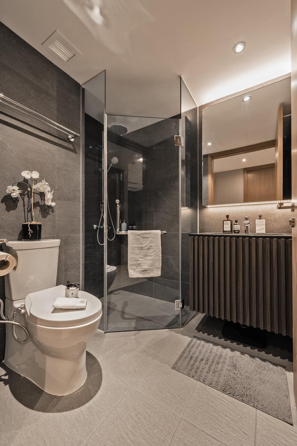 Modern, Condo, Bathroom, Kingsford Waterbay, Interior Designer, Mr Shopper Studio, Contemporary