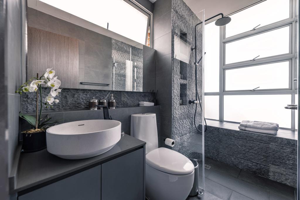 Modern, Condo, Bathroom, Heritage View, Interior Designer, Mr Shopper Studio, Contemporary
