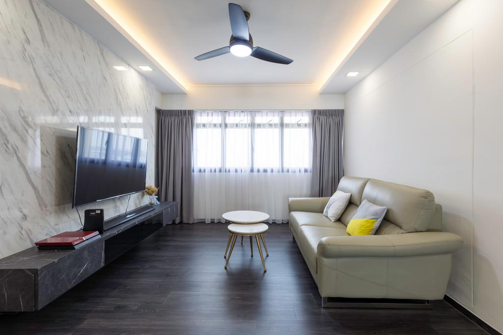 Contemporary, HDB, Living Room, Bedok Reservoir View, Interior Designer, Yang's Inspiration Design