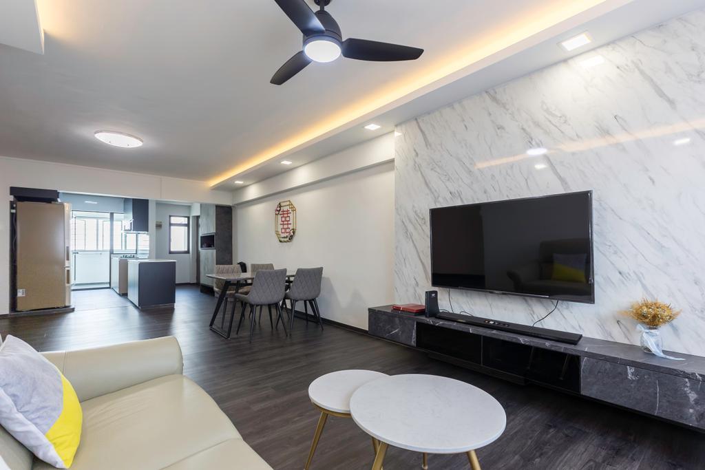 Contemporary, HDB, Living Room, Bedok Reservoir View, Interior Designer, Yang's Inspiration Design