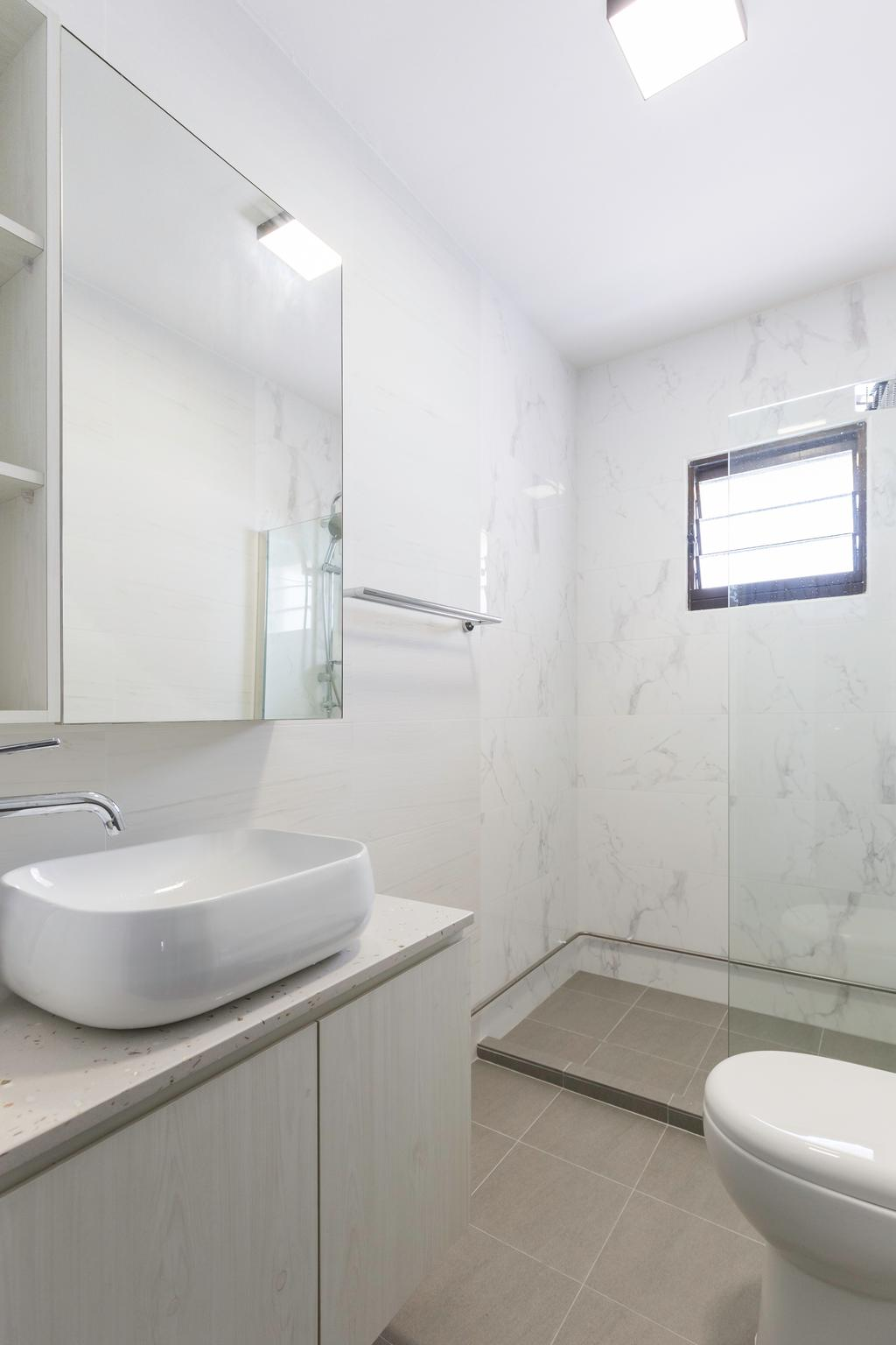 Contemporary, HDB, Bathroom, Bedok Reservoir View, Interior Designer, Yang's Inspiration Design