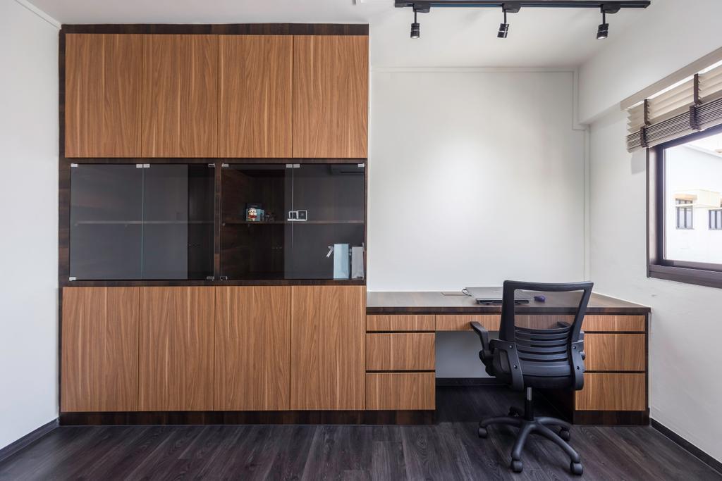Contemporary, HDB, Study, Bedok Reservoir View, Interior Designer, Yang's Inspiration Design